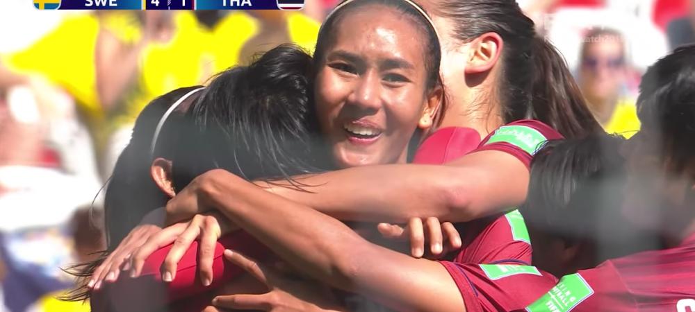 Reactia fantastica a jucatoarelor din Thailanda dupa primul gol la Mondial! Erau conduse cu 4-0, dupa ce au pierdut primul meci cu 13-0