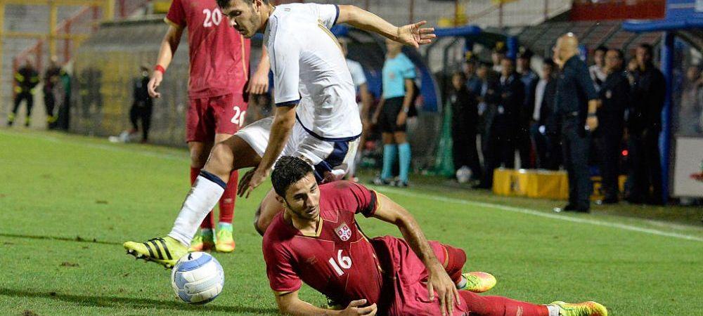 SERBIA - AUSTRIA 0-2, la EURO U21. Sarbii au atacat cu noul star al lui Real Madrid, Jovic, dar s-au lovit de zidul austriac! Gol acordat cu ajutorul VAR