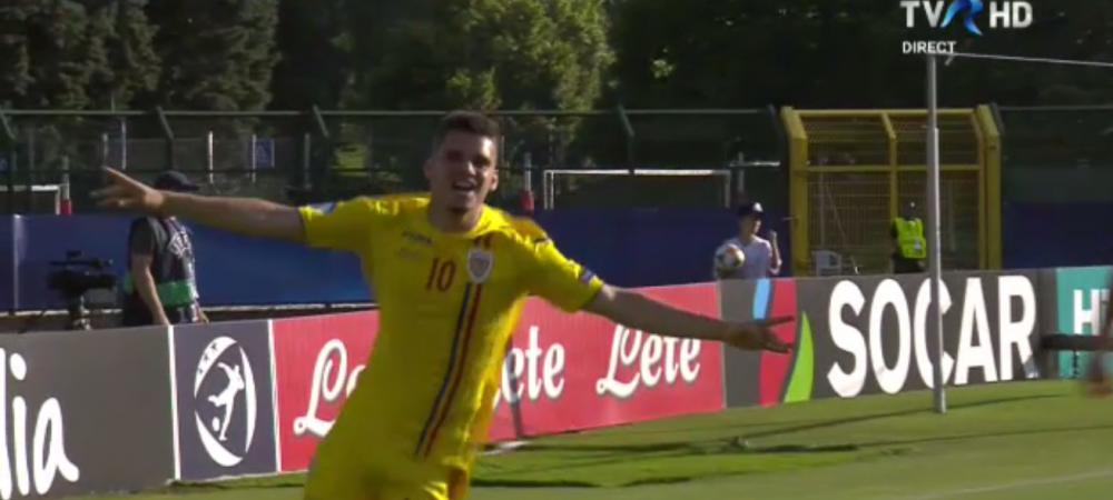 ROMANIA - CROATIA LA EURO U21 | Hagi, Hagi, Hagi!!! Ianis inscrie la EURO U21, iar Gica Hagi explodeaza in tribune! Imagini senzationale