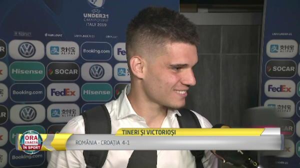 """ROMANIA - CROATIA 4-1, la EURO U21   Reactia lui Ianis Hagi dupa debutul ucigator al Romaniei: """"Stiam care e forta atacului nostru!"""" Ce le-a spus Radoi jucatorilor in vestiar"""