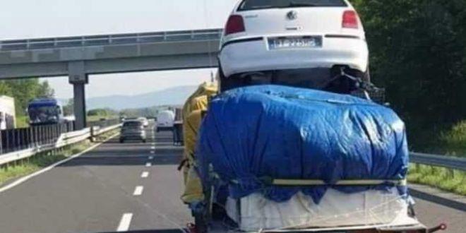 Imaginile cu un sofer roman pe autostrada din Ungaria, subiect de ironii in tara vecina