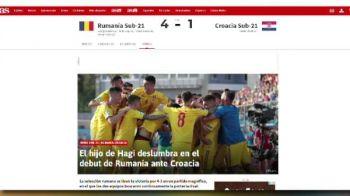 "ROMANIA la EURO U21   Presa internationala ii lauda pe tricolori: ""Hagi si Puscas au fost stelele Romaniei!"""