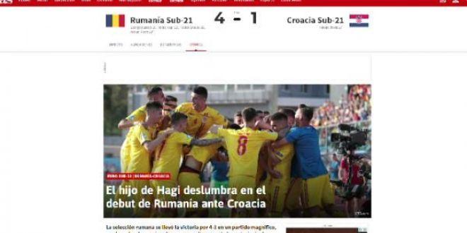 ROMANIA la EURO U21 | Presa internationala ii lauda pe tricolori:  Hagi si Puscas au fost stelele Romaniei!
