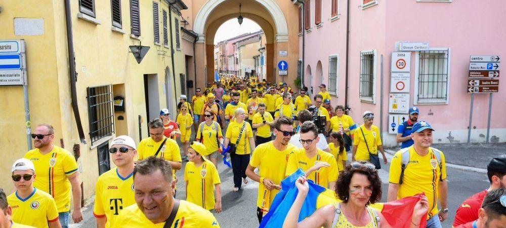 ROMANIA U21 - ANGLIA U21 | OCCUPY CESENA! Imagini FANTASTICE la Cesena! Peste 1000 de fani romani in MARS spre stadion!