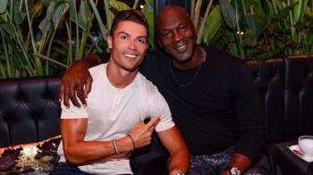 """Imaginea de 5 MILIOANE de inimioare! Ronaldo, alaturi de Michael Jordan in vacanta: """"Am scris istorie!"""" FOTO"""
