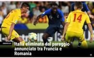 """""""Italia, eliminata dupa un rezultat anuntat!"""" Reactiile italienilor dupa egalul dintre Romania si Franta! Ce au putut sa scrie dupa meci"""