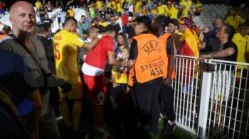 IMAGINI SOCANTE cu impact emotional! Sotia lui Cristi Manea, plina de sange dupa meciul Romania - Franta! Barbatul care a lovit-o a fost arestat!
