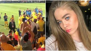 Ce a filmat iubita lui Cristi Manea in tribune la Romania - Franta, inainte sa fie ATACATA! VIDEO