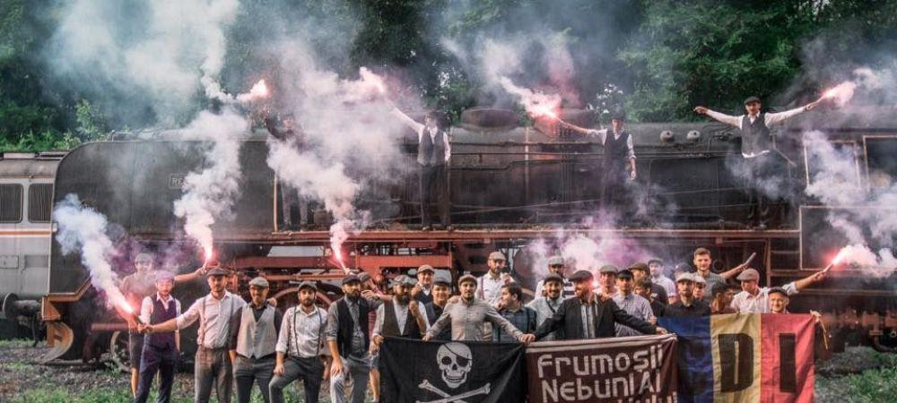 """Rapidistii au pozat in haine de epoca langa un """"Ferrari al locomotivelor cu aburi""""! Cum au sarbatorit 96 de ani de la infiintarea clubului"""