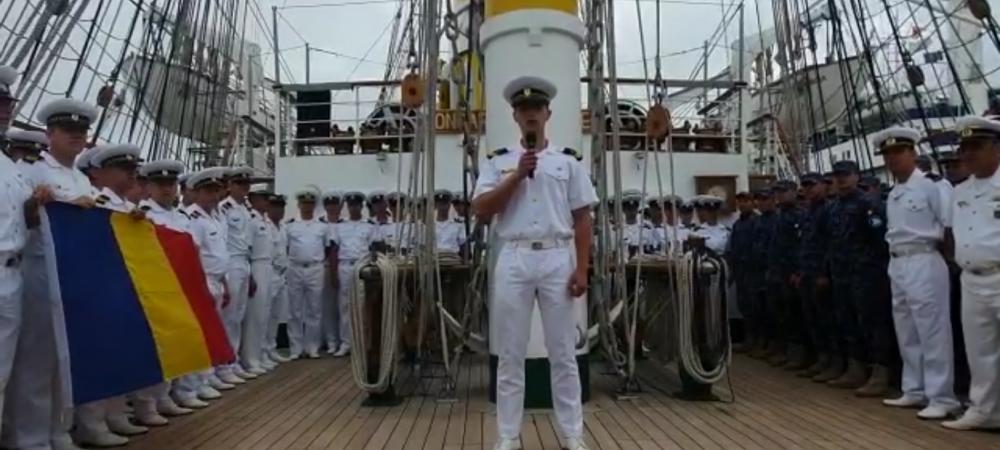 Mesaje pentru Romania MARE la Euro! Marinarii de pe Nava Mircea s-au filmat la Hamburg. VIDEO