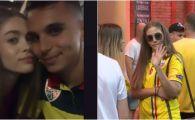 ROMANIA - GERMANIA: Iubita lui Manea a trecut peste incidentul in care a fost lovita. Cum a aparut pe stadion. FOTO