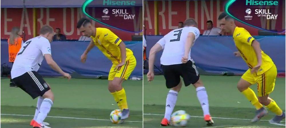 "ROMANIA - GERMANIA: ""Andrei Ivan, SKILL of the day!"" Cum si-a umilit un adversar din Bundesliga in semifinala EURO U21! VIDEO"