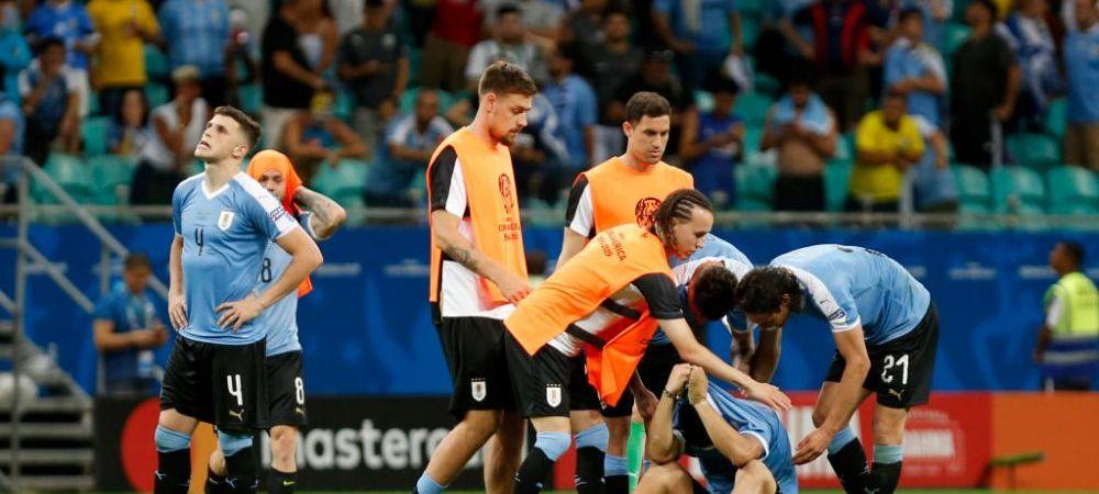 NEBUNIE TOTALA in Copa America: Peru reuseste surpriza si elimina Uruguay la penalty-uri! Echipa lui Suarez a avut 3 GOLURI ANULATE, iar starul Barcei a ratat un 11 metri