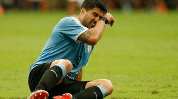 """Suarez, la pamant si in lacrimi dupa ratarea calificarii in semifinalele Copei America! Mesaj emotionant transmis de Neymar: """"Ridica-te! Esti cel mai bun, frate!"""""""