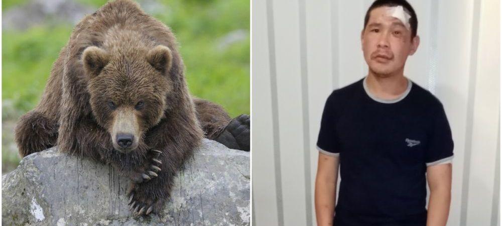 """Cum a scapat un barbat din lupta cu un urs: """"Am crezut ca e sfarsitul"""" FOTO"""