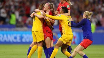 SUA, prima finalista a Mondialului feminin dupa un meci dramatic cu Anglia! Alex Morgan & Co s-au calificat dupa 2-1 in semifinale