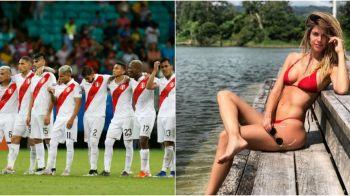 Un sarut pasional pentru omul care va califica Peru in finala Copa America! Promisiunea facuta de o bomba sexy inaintea semifinalei cu Chile. GALERIE FOTO