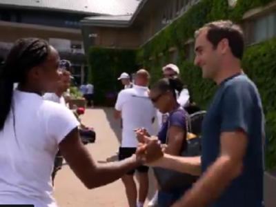 """""""Ai prins asta pe camera?"""" :) Reactia amuzanta a lui Cori Gauff cand s-a intalnit cu Federer! Pustoaica de 15 ani ar putea juca impotriva Simonei Halep in urmatorul tur"""