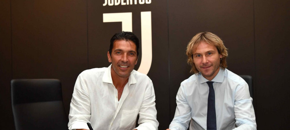 "OFICIAL: Veteranul Gigi Buffon s-a intors la ""Batrana Doamna"". Buffon a fost prezentat de Juve si are o clauza speciala pentru a-l depasi pe Maldini"