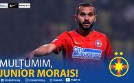 OFICIAL | FCSB s-a despartit de Junior Morais! Brazilianul a plecat langa Sumudica, la Gaziantep