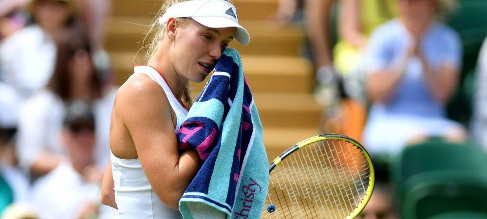 Simona Halep a scapat de o adversara infernala: Caroline Wozniacki, OUT de la Wimbledon in turul 3!