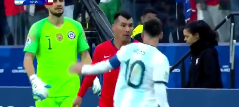 Argentina 2-1 Chile | Messi, ROSU DIRECT primit DEGEABA in finala mica de la Copa America! Incredibil: ce i-a facut Medel