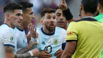 """Lionel Messi a explodat dupa ce a primit rosu in Argentina - Chile: """"Copa America e coruptie!"""" Reactia dura a CONMEBOL: cuvinte grele pentru starul argentinian"""