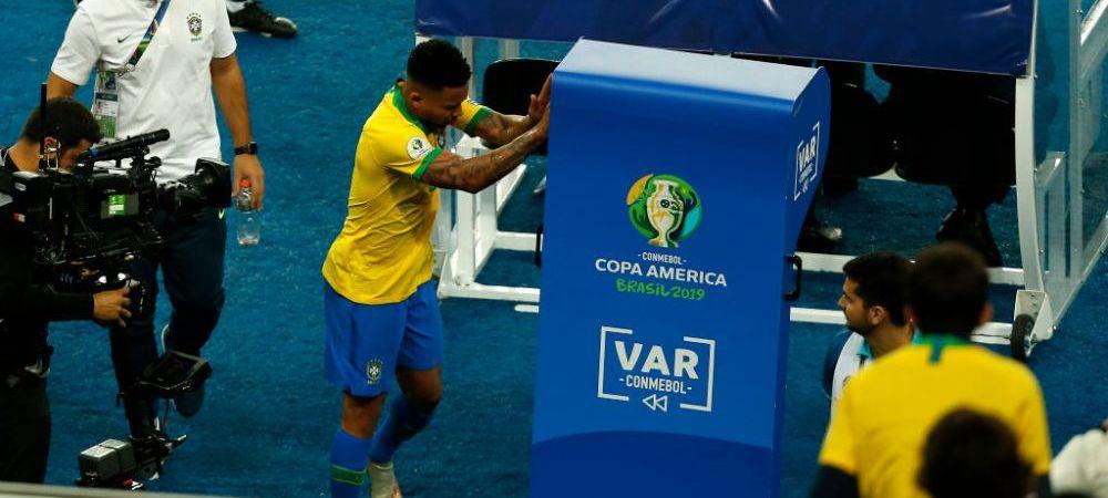 A daramat monitoarele VAR! Gabriel Jesus, momente DE FURIE in finala Copa America: reactie dura in momentul in care a fost eliminat   VIDEO INCREDIBIL