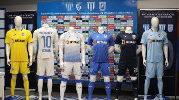 "Universitatea Craiova a prezentat noul echipament pentru sezonul 2019/2020: ""Speram sa fie tricouri de campioni"" FOTO"