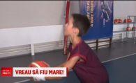 Nu doar Ianis poate ajunge la Barcelona! Copiii unui alt campion joaca baschet si au imbracat echipamentul catalanilor