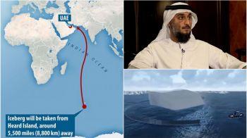 Motivul pentru care un seic miliardar vrea sa tracteze un iceberg din Antarctica pana in Emiratele Arabe, pe o distanta de 8.800 kilometri