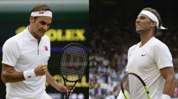 """FEDERER - NADAL, semifinala Wimbledon 2019: """"E cel mai bun din istorie pe iarba!"""" Cat e scorul la intalnirile directe"""