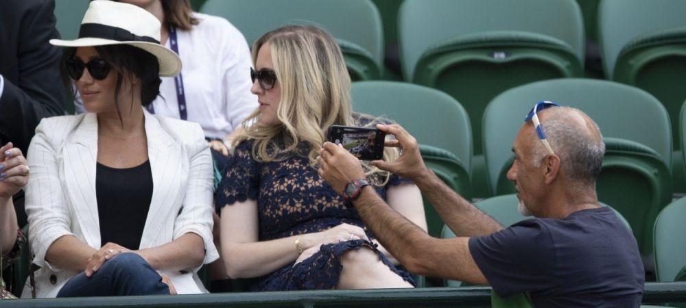 Ce a patit barbatul care a incercat sa-si faca poza langa ducesa Meghan Markle la Wimbledon! Paznicii au intervenit imediat. FOTO