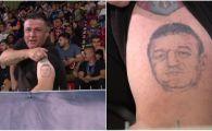 Fanul FCSB care si-a facut tatuaj IMENS cu Gigi Becali, in tribune la Giurgiu. FOTO
