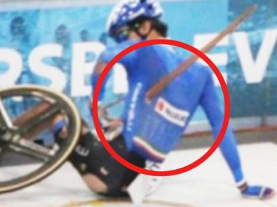 Incident socant pe velodrom: o aschie s-a desprins de pe pista si a strapuns ca o sulita un ciclist!