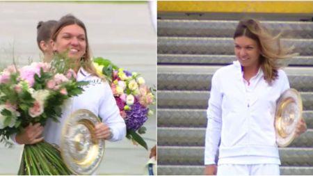 Sosire Simona Halep VIDEO! Trofeul Wimbledon a ajuns in Romania:  Va multumesc pentru sustinere