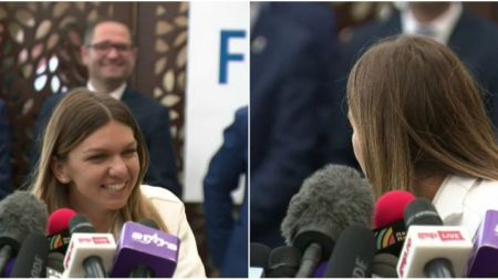Faza GENIALA cu Simona Halep la revenirea in tara:  Esti inregistrat, ai grija!  Ce a cerut campioana Wimbledon
