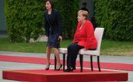 GESTUL facut de Angela Merkel la primirea Maiei Sandu. De ce NU s-a ridicat de pe scaun. FOTO