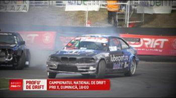Campionatul national de drifturi! Cei mai buni piloti din Romania si Bulgaria se dueleaza duminica, de la 16:00, la PRO X