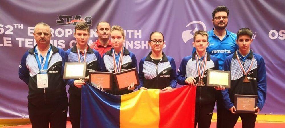 Juniorii romani au cucerit 8 medalii la CE de tenis de masa