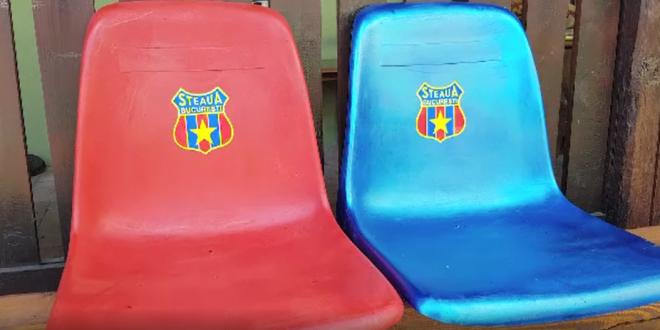 Balint, cu Ghencea in suflet si in CASA! :) Si-a pus doua scaune de pe stadion pe terasa