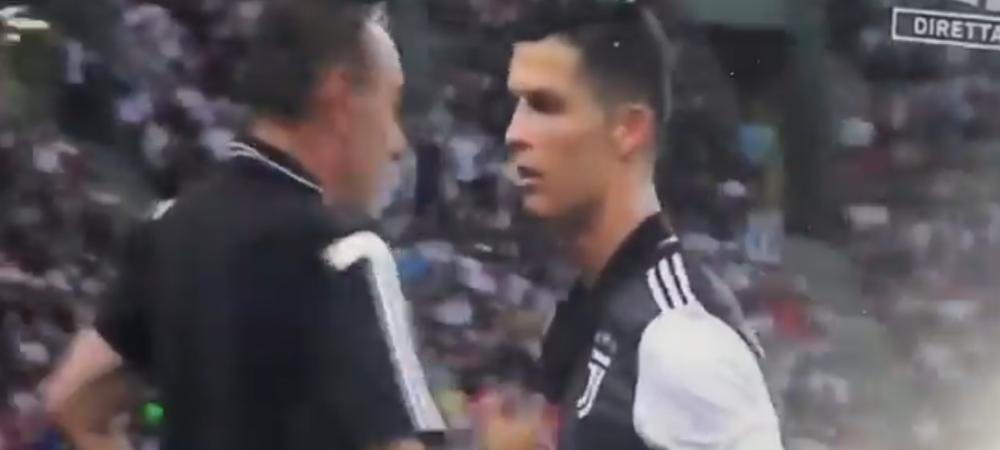 Prima confruntare pentru Ronaldo si Sarri in PRIMUL meci al sezonului la Juventus! Ce s-a intamplat pe margine dupa ce Cristiano a fost schimbat