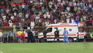 """TULBURATOR   Primele cuvinte ale lui Neagoe dupa ce si-a revenit: """"Cat e scorul?"""" Antrenorul ia o pauza: decizia imediata luata de Dinamo"""