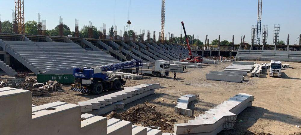 Chiar se face! Se monteaza tribunele la stadionul Steaua! Ce se intampla cu arena Giulesti. FOTO