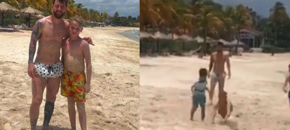 "Pustiul care a jucat fotbal pe plaja cu Messi si fiul sau cel mare, gasit de argentinieni! ""Ma jucam cu mingea si a venit la mine! E un tip si un tata incredibil"""