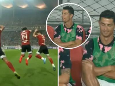 """Siiiuuuuuuuu, Cristiano!"" GENIAL: Cum a reactionat Ronaldo dupa ce jucatorii echipei adverse i-au imitat cu totii gestul dupa gol: VIDEO"