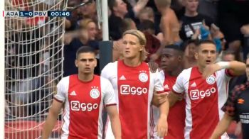 """Portarul nici nu a apucat sa ajunga in careu :) Ajax, """"gol-fulger"""" in meciul de Supercupa cu PSV! Primul trofeu cucerit de """"lancieri"""" cu Razvan Marin titular"""