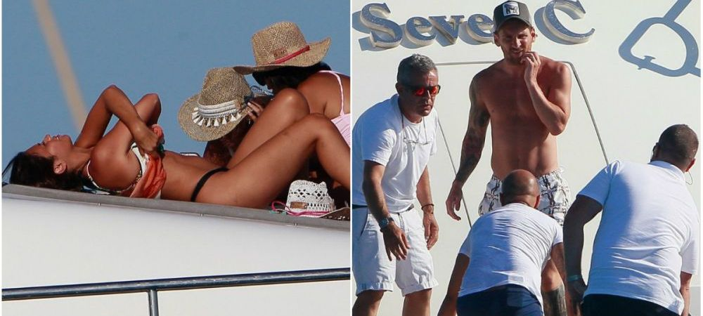 Messi, Suarez si Fabregas si-au dus sotiile pe un yacht in Ibiza. SUPER GALERIE FOTO