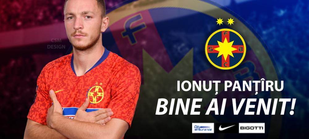 "Ionut Pantiru, prezentat oficial de FCSB: ""M-am bucurat enorm cand m-a sunat Becali!"" Ce numar va purta"