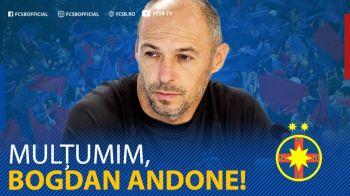 """""""Multumim, Bogdan Andone!"""" FCSB a facut anuntul oficial. Cine sta pe banca la urmatorul meci"""